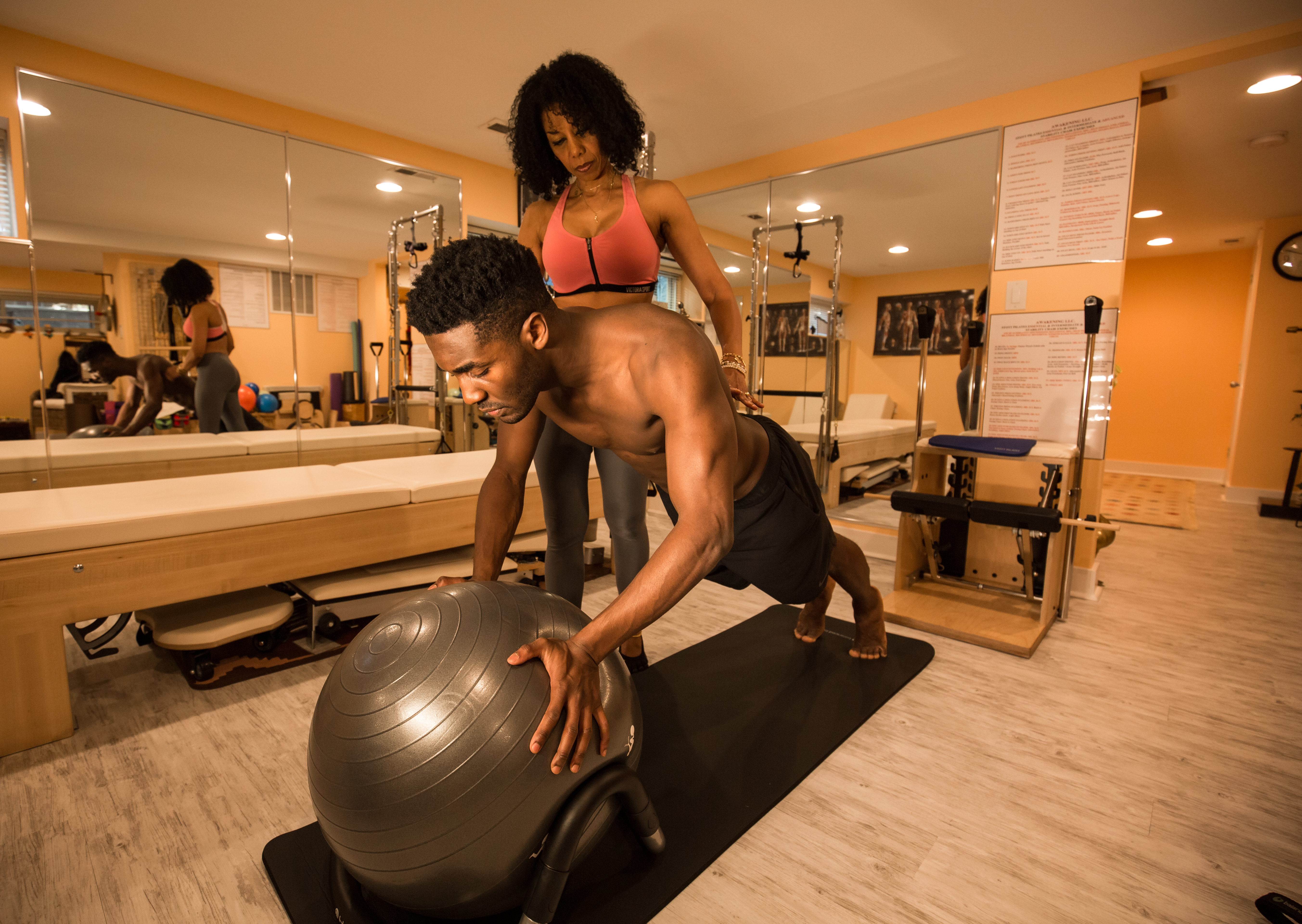 Push Ups on Stability Ball