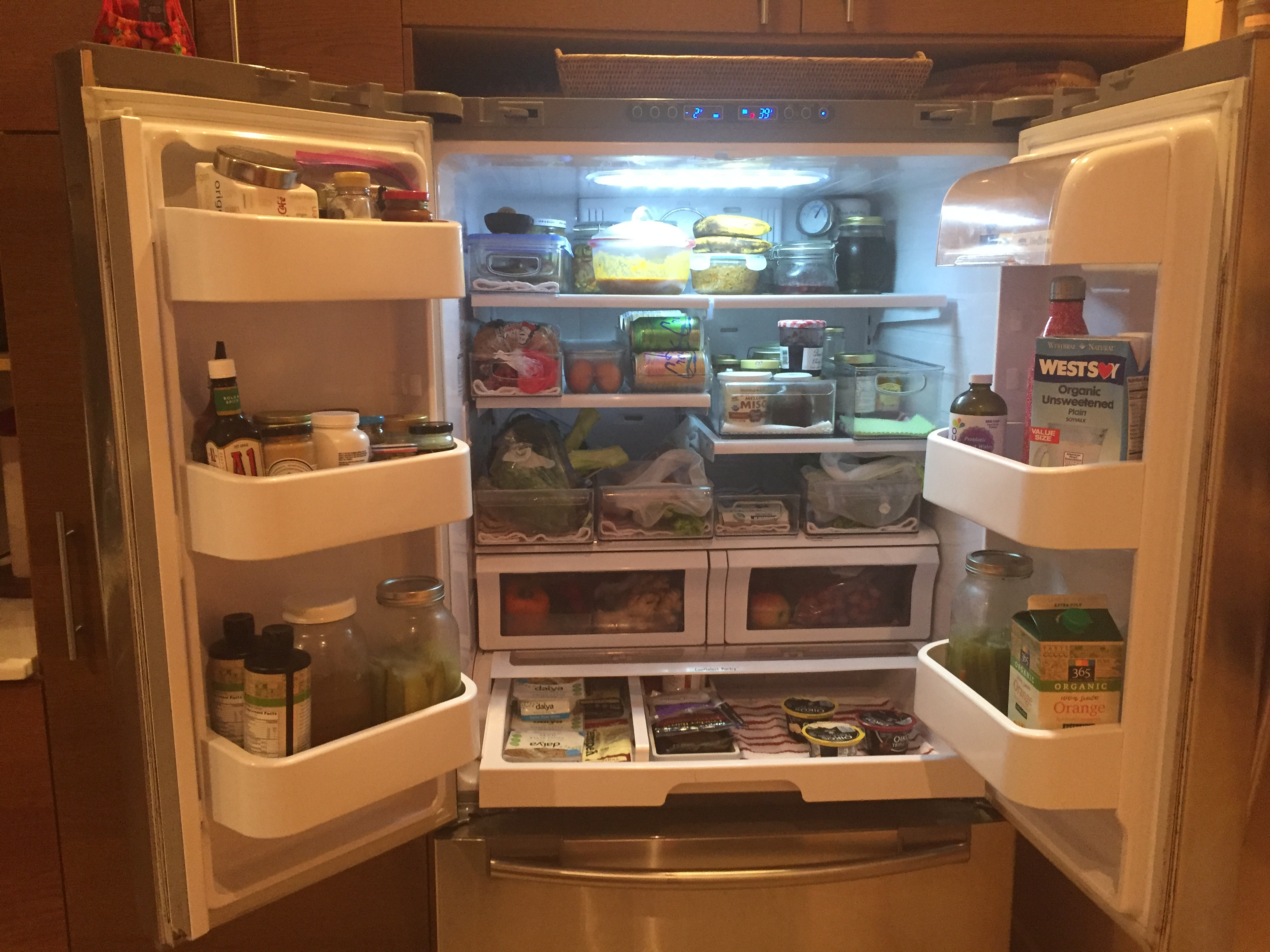 Pantry Makeover Fridge